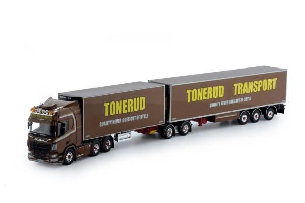 70558 - Tekno - Scania NG R-serie HL mit 2achs Slider Auflieger und 3achs Kühlauflieger -Tonerud-N-