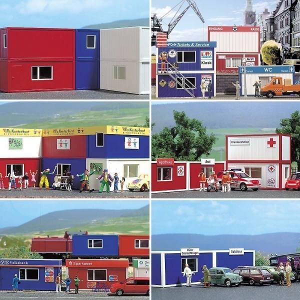 1031 - Busch - Container Set 6 Stück -Bausatz-