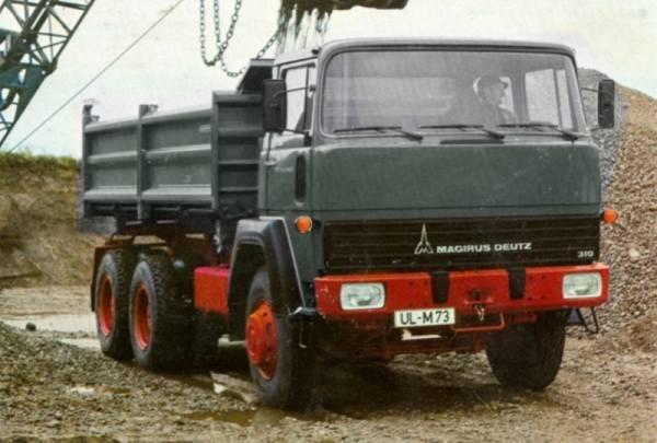G0008410 - GMTS - Magirus 310D26 6x4 Dreiseitenkipper grau mit schwarzem Chassis