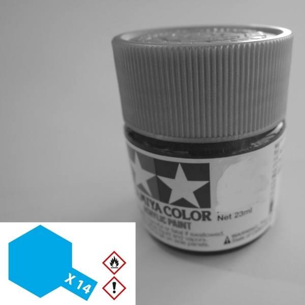 81014 - Tamiya - Acrylfarbe 23ml, himmelblau glänzend X-14