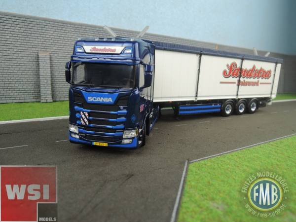 01-2137 - WSI - Scania S HL mit 3achs Volumenauflieger  - Sandstra Transport - NL -