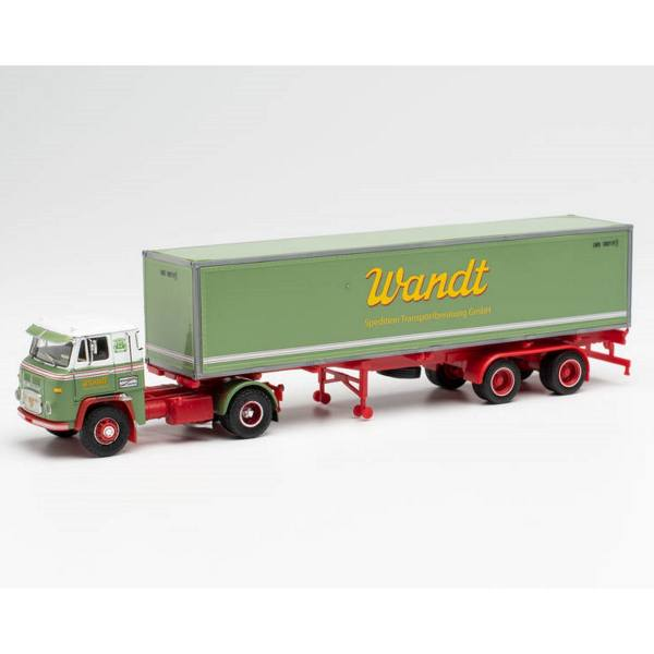 """87MBS026000 - Herpa - Scania Vabis LB76 40ft. Container-Sattelzug """"Spedition Wandt"""""""