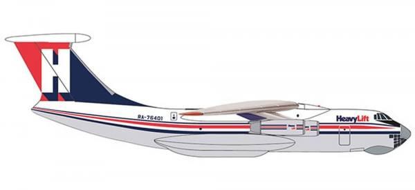 532785 - Herpa - HeavyLift Cargo Airlines  Ilyushin IL-76 - 1:500