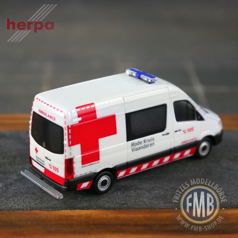1//87 Herpa MB sprinter Rode Kruis Bélgica B 936989