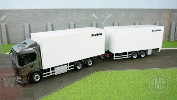 """2657316 - WSI - Scania CS20N 6x2 mit Kofferaufbau und Tandemanhänger """"Scania"""""""