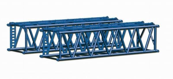 076586 - Herpa - 2x Gittermast -S-Ausleger für Raupenkran LR1600 -Wasel-