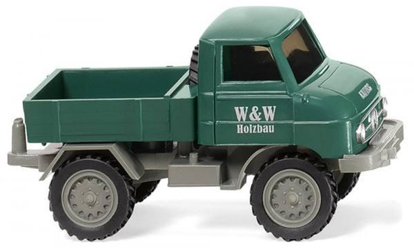 "037107 - Wiking - Mercedes-Benz Unimog U 411 ""W & W Holzbau"""