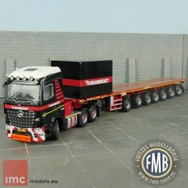 """410202 - IMC - MB Arocs StSp 6x4 mit Nooteboom 7achs Ballastauflieger + 10"""" Container - Mammoet"""