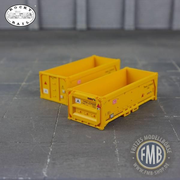 """10001 - Rocky-Rail - Schmitz Cargobull 20ft. Abraumcontainer """"Stuttgart 21"""" - 2 Stück"""