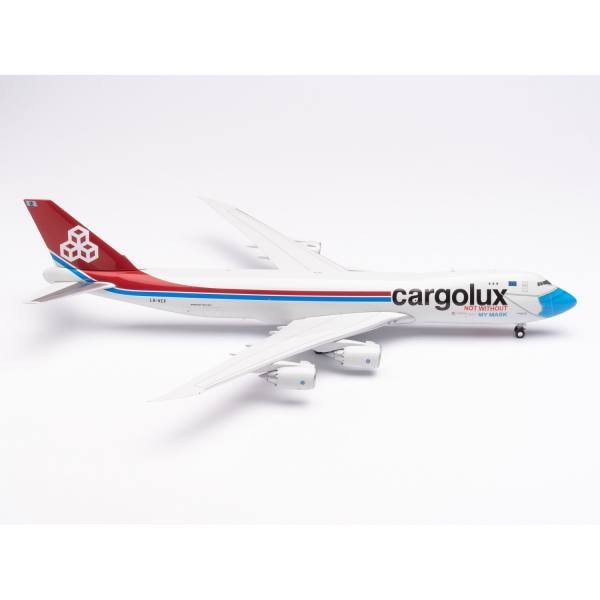 """571272 - Herpa Wings - Cargolux Boeing 747-8F """"Not Without My Mask"""""""