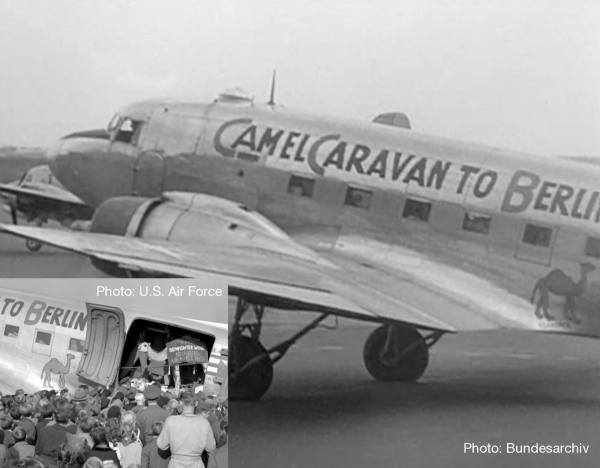 "612302 - Herpa - US Air Forces  Douglas C-47A Skytrain - 525th Fighter Squadron  ""Camel Caravan"""
