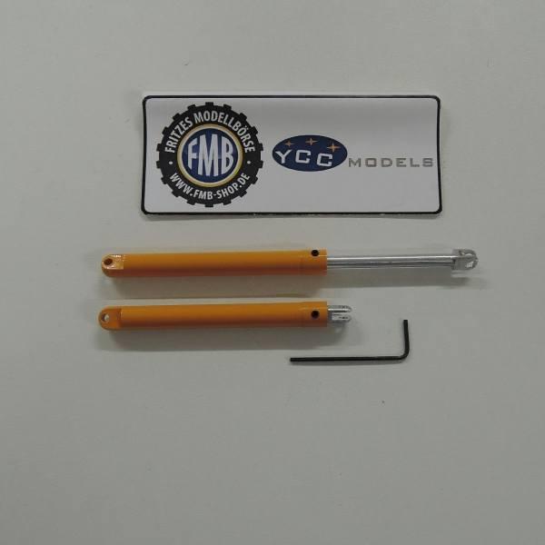 YC861-2 - YCC - Metallzylinder für AC 500/1 + AC500/2 - gelb / RAL 1007 -