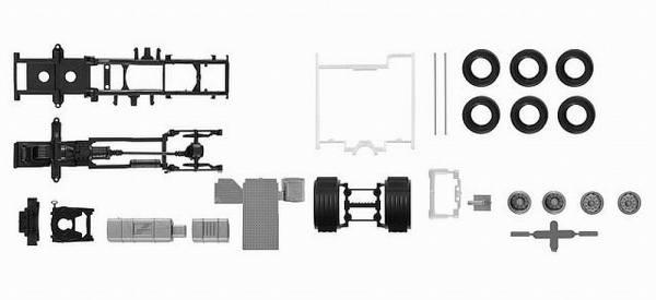 084635 - Herpa - TS Fahrgestell Scania CS 20 mit Chassisverkleidung - 2 Stück