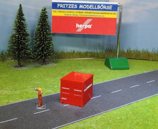 924283 - Herpa - 10ft Container -Baumann / SPMT- unverpackt