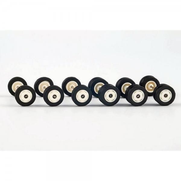 99012 - VK Modelle - Radsatz für Solaris Urbino12 mit Radkappen, weiß - 3 Satz