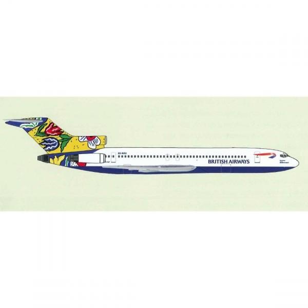 """531825 - Herpa - Comair / British Airways  Boeing 727-230B """"Flower Field"""""""