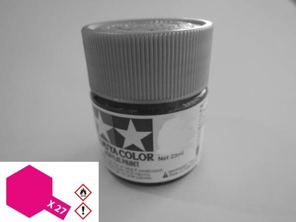 81027 - Tamiya - Acrylfarbe 23ml, klar-rot glänzend X-27