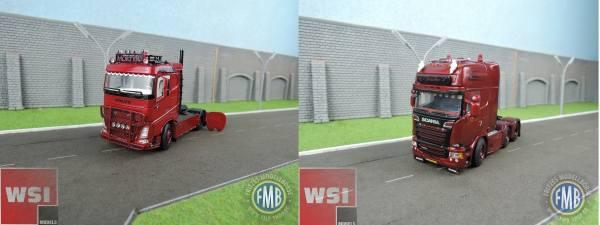 WSI-Set - Volvo FH4 4x2 - Mortyr Transport - + Scania Streamline TL 6x2 - Valke Transport -