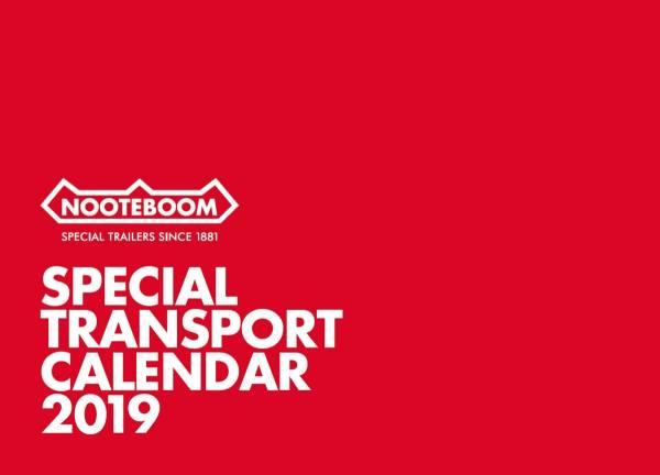 561.31.56 - Nooteboom Kalender 2019 - Schwertransporte