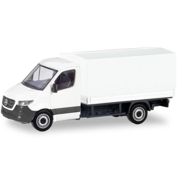 013703 - Herpa - MiniKit Mercedes-Benz Sprinter `18 Pritsche/Plane, weiß