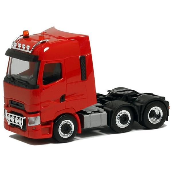 620409 - Herpa - Renault T 6x2 Zugmaschine mit Lampenbügel, rot