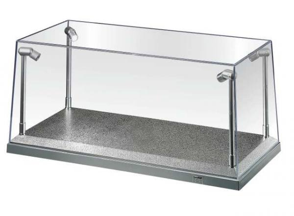 AT32912 - AT-Collections - Vitrine mit LED und silbernen Sockel