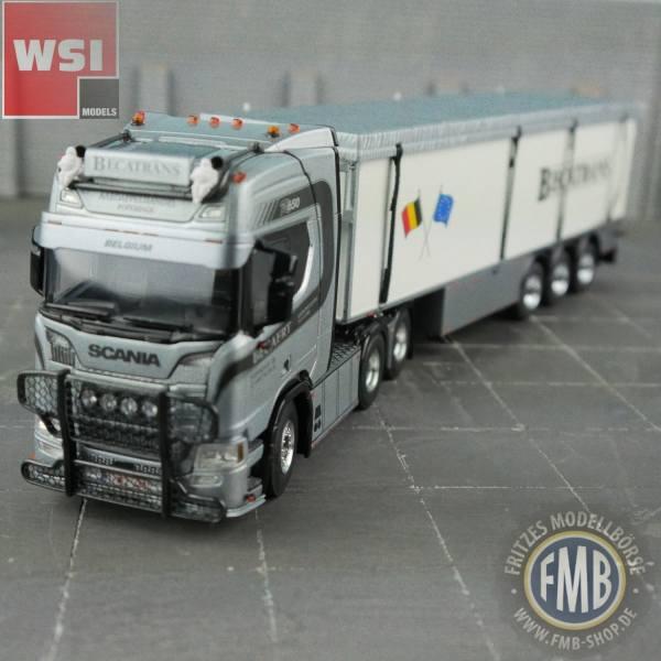 02-2480 - WSI - Scania R HL 6x2 mit 3achs Volumenauflieger - Becatrans - B -