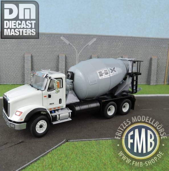 71014 - Diecast Masters - International HX615 Betonmischer 3achs, weiß/grau