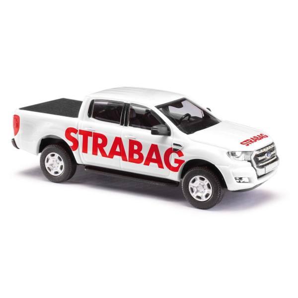 """52815 - Busch - Ford Ranger Doppelkabine `16 mit Ladeflächenabdeckung """"Strabag"""""""