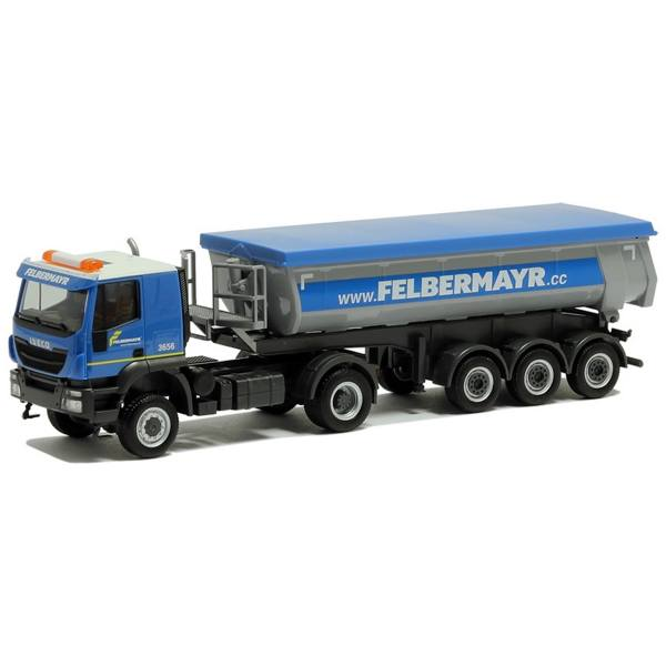 "312875 - Herpa - Iveco Trakker 4x4 Thermomulden-Sattelzug ""Felbermayr"" AT"