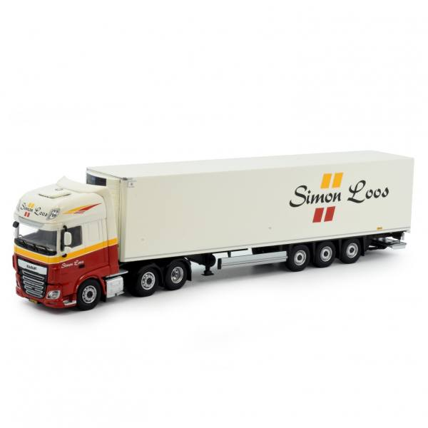 81885 - Tekno - DAF XF EURO 6 SSC mit 3achs Zamac Kühlauflieger - Simon Loos - NL -