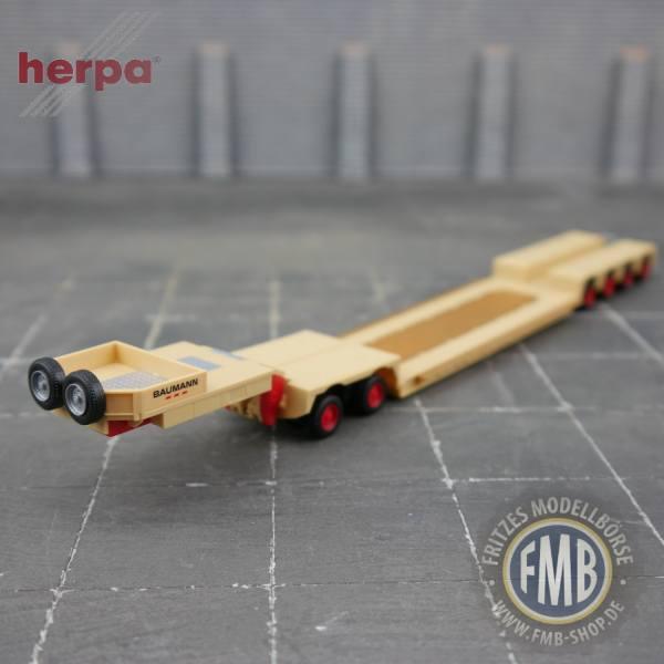 """944199 - Herpa - 4achs Tieflader mit 2achs Interdolly """"Baumann"""""""