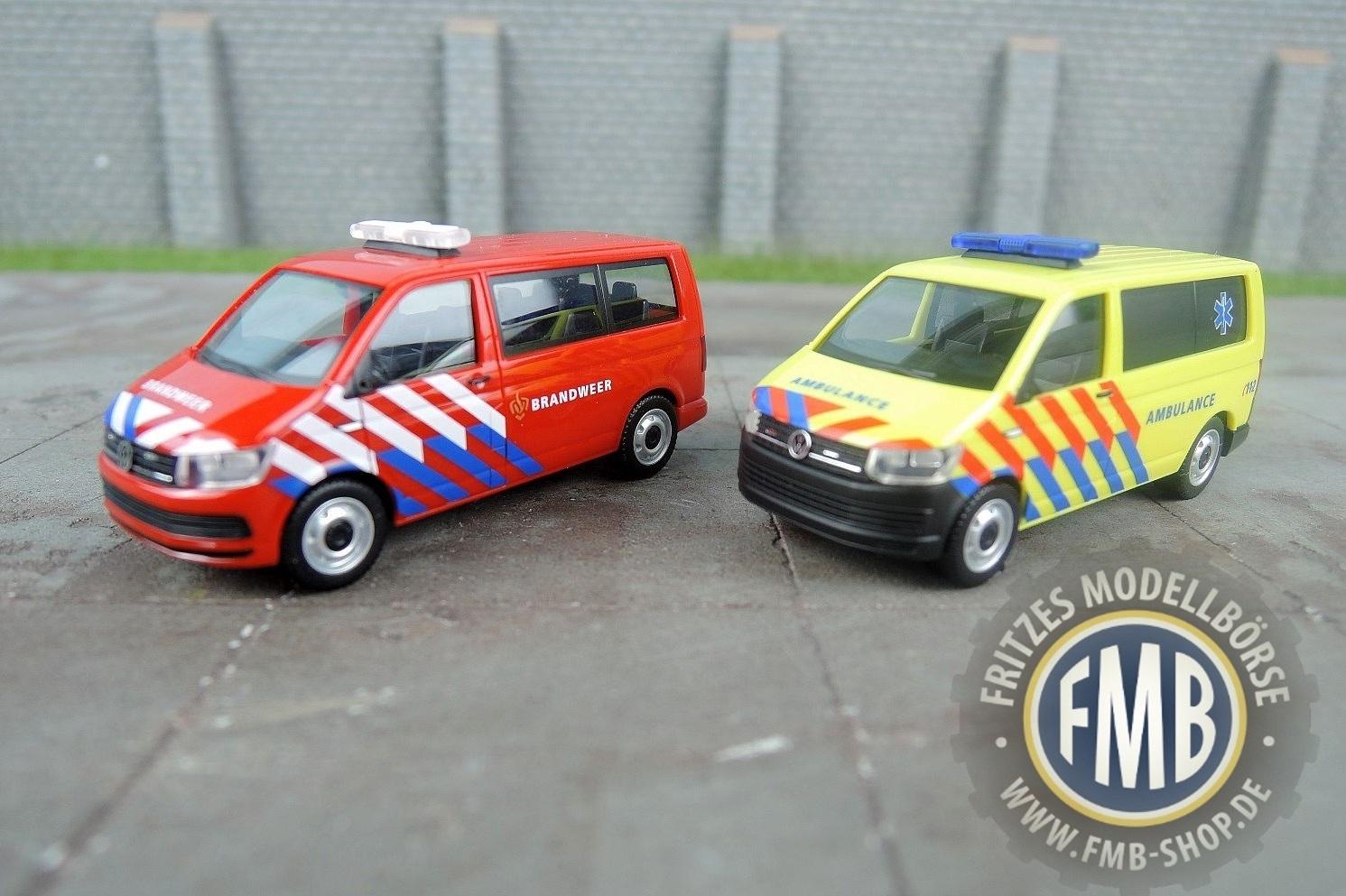 NL Herpa VW T6 Bus Brandweer 930987