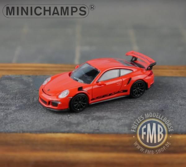 063226 - Minichamps - Porsche 911 GT3 RS (2013), orange mit Streifen