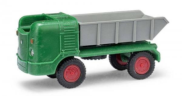 210 006300 - Mehlhose - Multicar M21 Muldenkipper -grün/rot/grau- DDR