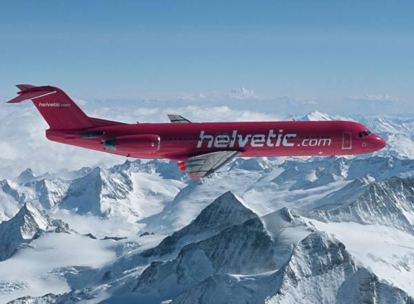 559966 - Herpa - Helvetic  Fokker 100