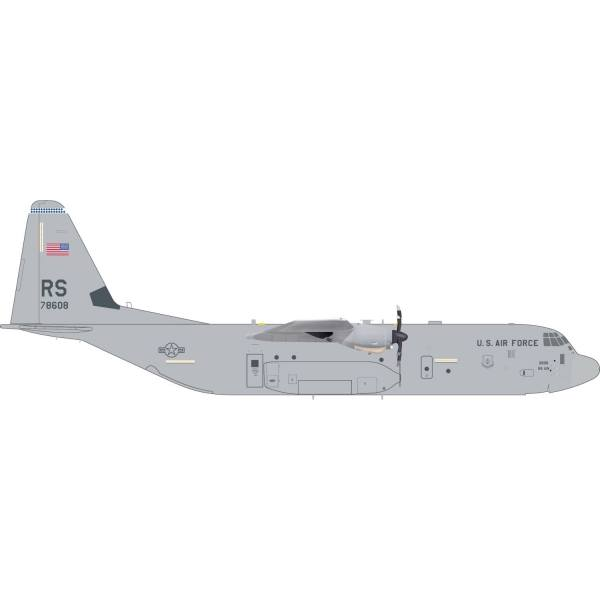 "559461 - Herpa - US Air Force  Lockheed C-130J ""Super Hercules"" 86th AW Ramstein - 1:200"
