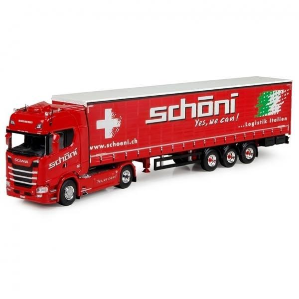 73907 - Tekno - Scania TL mit 3achs Kühlauflieger - Schöni - CH  -