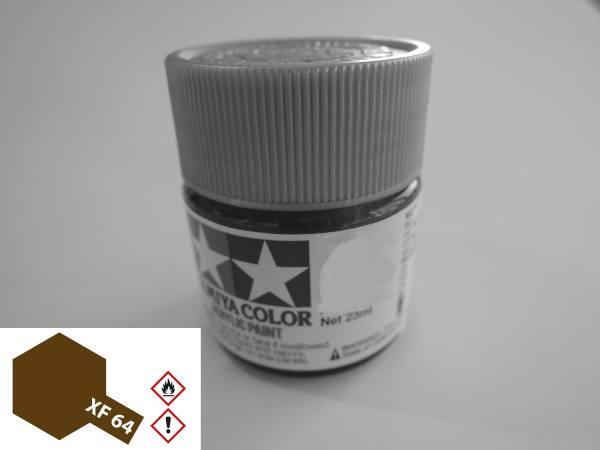 81364 - Tamiya - Acrylfarbe 23ml, rot braun matt XF-64