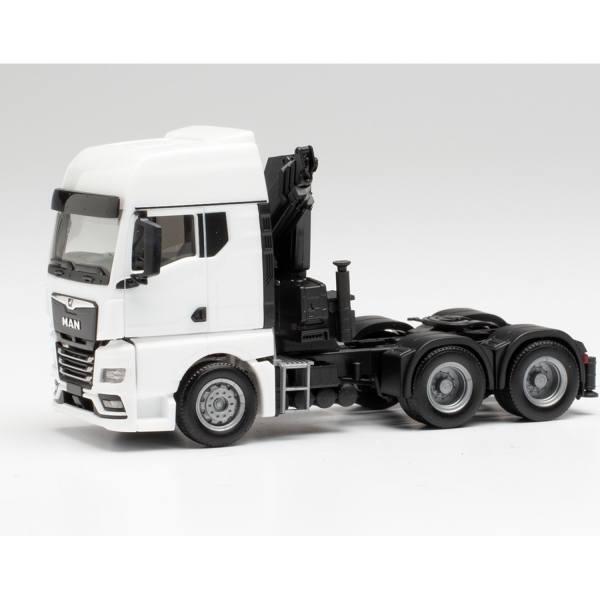 313100 - Herpa - MAN TGX GX 6x4 Zugmaschine mit Ladekran, weiß