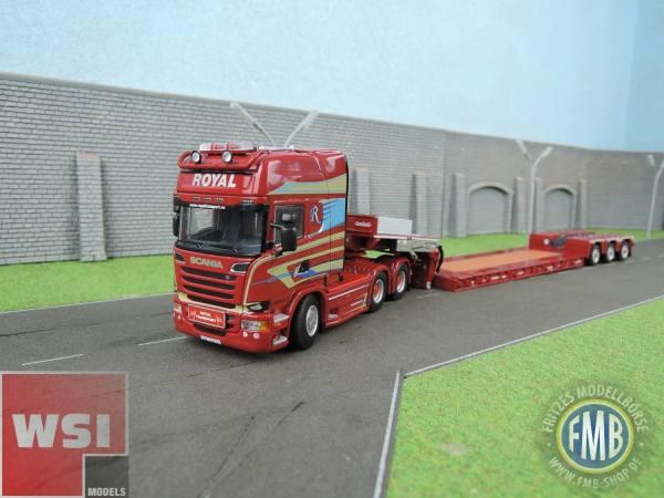 01-2334- WSI - Scania Streamline TL mit Nooteboom Pendel-X Tieflader -Royal Transport- N -