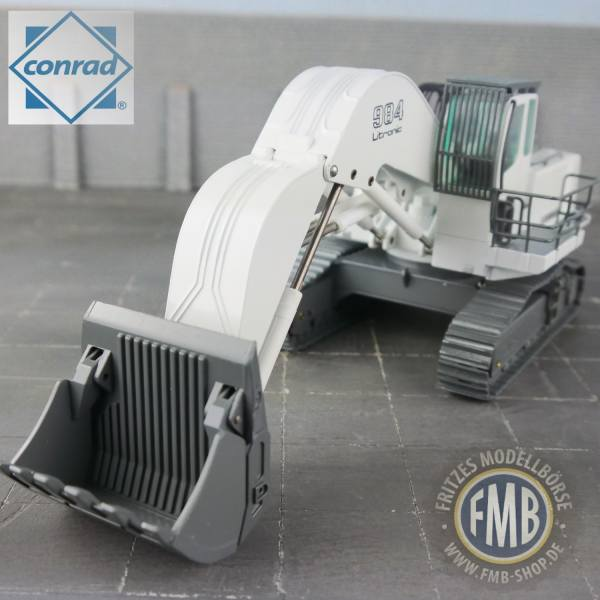 2914/0 - Conrad - Liebherr R 984 C Litronic Hochlöffel-Bagger, weiß