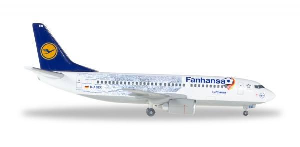 """562546 - Herpa - Lufthansa  Boeing 737-300 """"Fanhansa"""" - 1:400"""