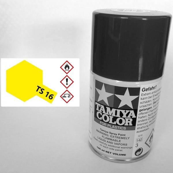 85016 - Tamiya - gelb glänzend 100ml , Sprühdose TS-16
