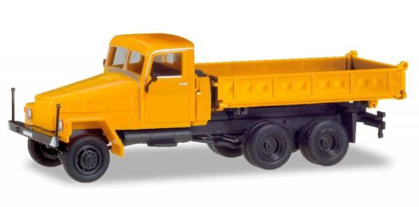 308663 - Herpa - IFA G5 Allrad-Dreiseitenkipper, orange