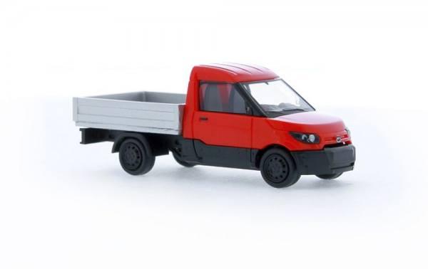 33201 - Rietze - Streetscooter Work Pritsche E-Transporter, rot/silber