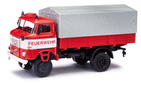 95249 - Busch / EsPeWe - IFA W50 LA/PV (Pritsche) Feuerwehr mit Plane, Baujahr 1973