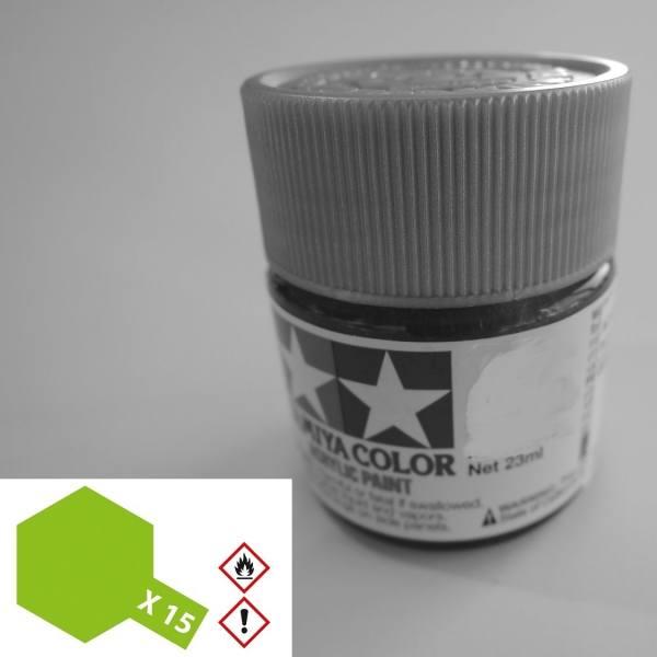 81015 - Tamiya - Acrylfarbe 23ml, hellgrün glänzend X-15