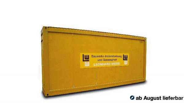 "938303 - Herpa - 20ft. Baucontainer ""Leonhard Weiss / Bauwerks Instandsetzung"""