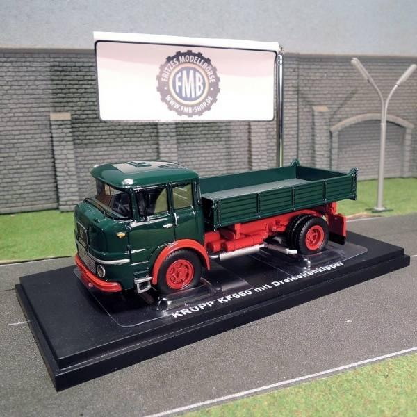 G0007340 -Golden Oldies - Krupp KF380 4x2 Kipper, grün/rot